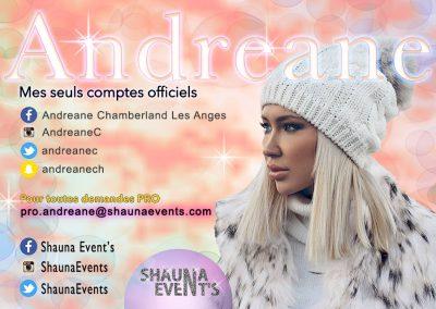 bannière web d'Andréane CHAMBERLAND e People SHAUNA EVENTS créé par Franck Cord'homme - été 2016 - Visible sur webtuto.fr