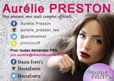 bannière web de Aurelie PRESTON People SHAUNA EVENTS créé par Franck Cord'homme - été 2016 - Visible sur webtuto.fr