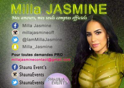 bannière web de Milla JASMINE People SHAUNA EVENTS créé par Franck Cord'homme - été 2016 - Visible sur webtuto.fr